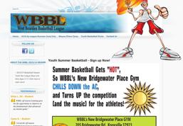 West Bearden Basketball League (WBBL) web site image